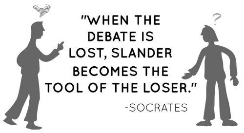 SBI! scam debate slander